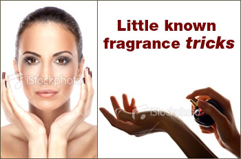 applying fragrance