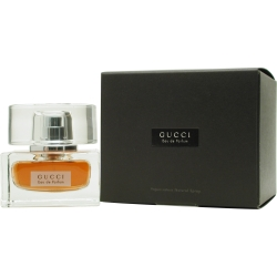 ad0be208cfe5c Gucci eau de parfum is presented in a gloriously heavy flacon that  resembles a turn-of-the-century glass inkwell. Its deep brown juice hints  at a panoply of ...